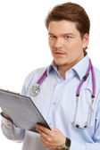 Doctor with a clipboard — Stock Photo