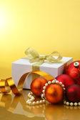 Julkort & bollar — Stockfoto