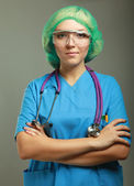 Female doctor in uniform — Stock Photo