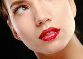 Make-up. Lipgloss. Lipstick — Stock Photo