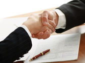 Handshake of business partners — Stock Photo