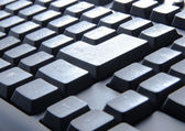 Keyboard of a notebook computer. — Stock Photo