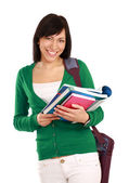 Female student with books, — Stock Photo