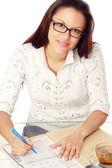Woman wearing glasses — Stock Photo