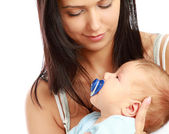 Mother with her infant child — Stock Photo