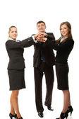 Бизнесмены с их руки вместе — Стоковое фото