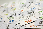 Calendar cards with week days and months — Stockfoto