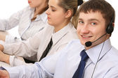 Customer service consultants working — Stock Photo
