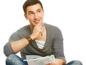 College guy studying — Stock Photo