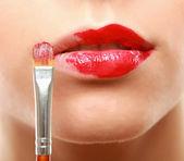Make-up. Lipgloss. — Stock Photo