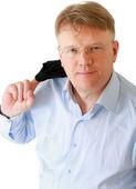 Retrato de hombre con gafas — Foto de Stock