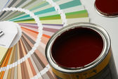 Paintbrush and colorful paint. — Stock Photo