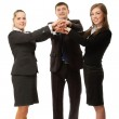 Businesspeople with their hands together — Stock Photo #43173881