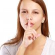 Woman making silence sign — Stock Photo #43177077