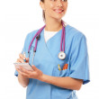 Female doctor making notes — Stock Photo #43178055