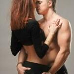 Постер, плакат: Couple heterosexual topless