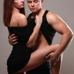 Loving couple standing — Stock Photo #43179543