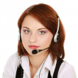 Woman with headset. — Stock Photo #43179863