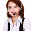 Woman with headset. — Stock Photo #43179877