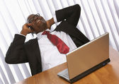 African american in the office — Foto Stock