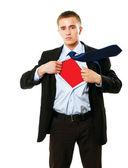 Superhero standing — Foto Stock