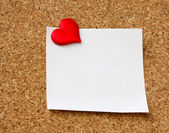 Heart on a card — Foto Stock