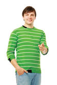 Young guy pointing at you — Stock Photo