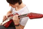 Guitarist playing — Stock Photo