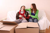 Moving into a new house — Stock Photo
