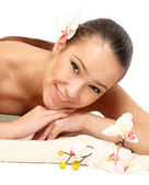 Woman at spa procedure — Stock Photo