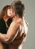 Couple heterosexual topless — Foto de Stock