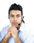 A customer service agent — Stock Photo