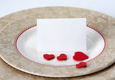 Red heart in plate. — Stock Photo