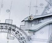 Plano de arquitectura & herramientas. — Foto de Stock