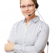 A young woman with a headset. — Stock Photo #45346457