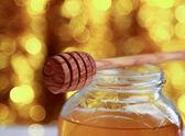 Honey on christmas — Stock Photo