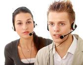 Lidé pracující v call centru — Stock fotografie