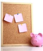 Etiketleri ve piggy kutusu — Stok fotoğraf