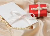 Cadeau en pearl — Stockfoto