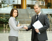 Partners handshaking. — Stock Photo