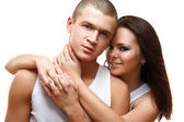 Young couple is embracing — Stock Photo