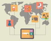 Internet shopping, e-commerce — Stock Vector