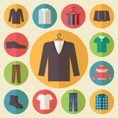 Man clothing vector icons set — Stock Vector