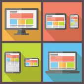 Responsive web design. Flat style vector illustration — Stock Vector
