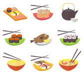 Sushi and rolls — Stock Vector