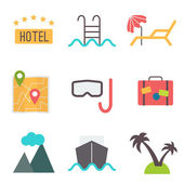 Vacation icons set — Stock Vector
