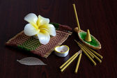 Still-life with aroma sticks — Stock Photo