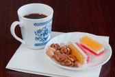 Frukost med kaffe — Stockfoto