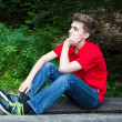 Young thinking man — Stock Photo #50079037