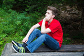 Young thinking man — Stock Photo